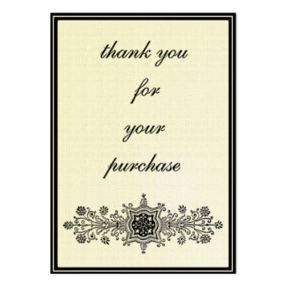 Thank you for the purchase -eggshell color large business card