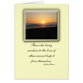 Thank you for the Sunshine Greeting Card
