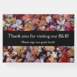 """[ Thumbnail: """"Thank You For Visiting Our B&B!"""" + Autumn Leaves Guest Book ]"""