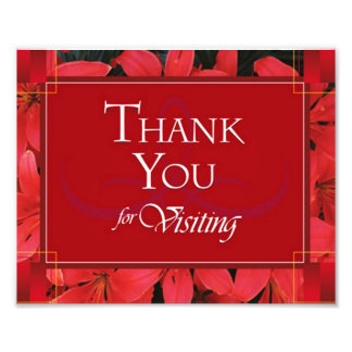 Thank You For Visiting Photo Print