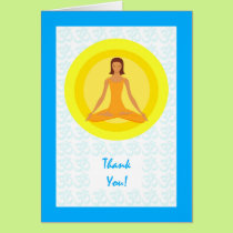 Thank You for Yoga Instuctor, Yoga Pose Design Card