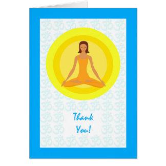 Thank You for Yoga Instuctor, Yoga Pose Design Card
