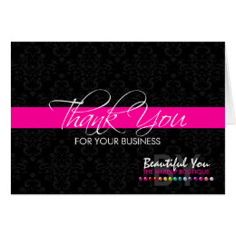 Business logo note cards zazzle thank you for your business custom note cards colourmoves