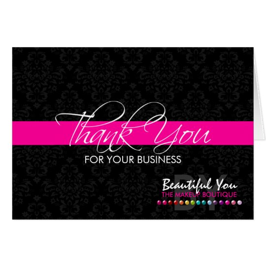 Thank You For Your Business Basket: Thank You For Your Business Custom Note Cards