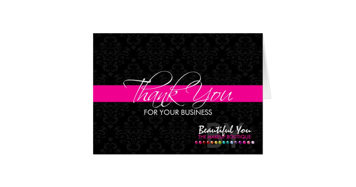 Thank You For Your Business Custom Note Cards | Zazzle.com
