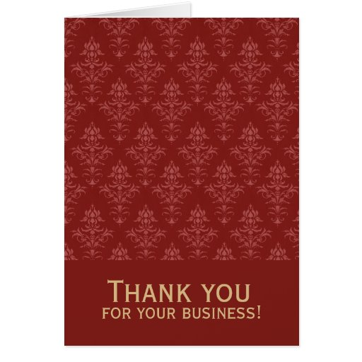 Thank you for your business damask card