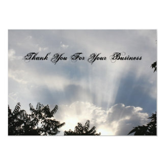 Thank you for your business 5x7 paper invitation card