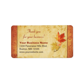 Maple Leaves Thank You for Your Business Return Address Mailing Labels