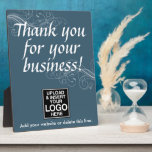 "Thank you for your business with logo plaque<br><div class=""desc"">Add your logo and custom information to this counter sign template.</div>"
