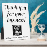 """Thank you for your business with logo plaque<br><div class=""""desc"""">Add your logo and custom information to this counter sign template.</div>"""