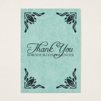 thank you for your condolences business card