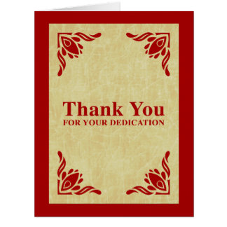 thank you for your dedication large greeting card
