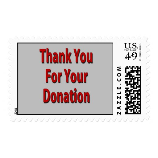 Thank You For Your Donation Postage Stamp