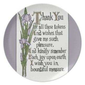 Thank You for Your Good Wishes Dinner Plate
