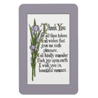 Thank You for Your Good Wishes Rectangular Photo Magnet