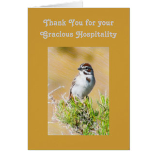 Thank You for your Gracious Hospitality Template Card