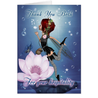 Thank You For Your Hospitality - Fairy Greeting Ca Greeting Cards