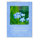 Thank You For Your Kindness Forget Me Nots Greeting Card