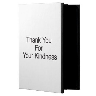 Thank You For Your Kindness iPad Air Covers