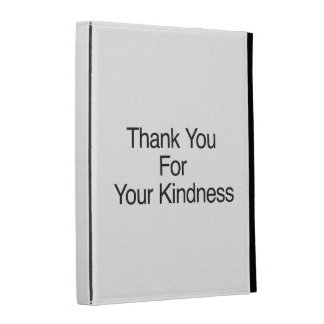 Thank You For Your Kindness iPad Folio Case