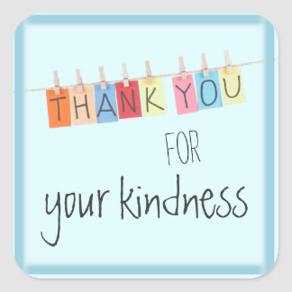 Thank You for Your Kindness Stickers