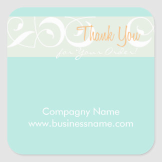 Thank you for your order Corporate Mint Sticker