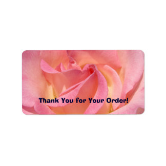 Thank You for Your Order! labels Pink Rose Flower