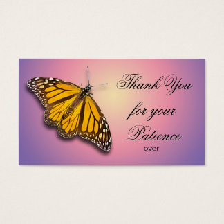 THANK YOU FOR YOUR PATIENCE BUSINESS CARD