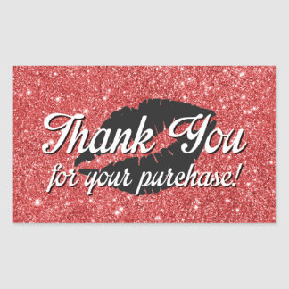 Thank you for your purchase rectangular sticker