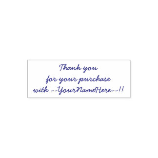 Thank you for your purchase self-inking stamp
