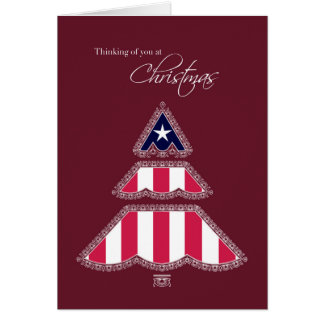 Thank you for Your Service at Christmas, Patriotic Greeting Card