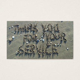 THANK YOU FOR YOUR SERVICE! BUSINESS CARD