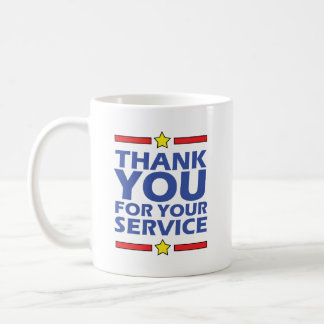 Thank you for your service coffee mug