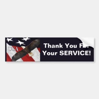 Thank You For Your Service Eagle Bumper Sticker