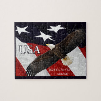 Thank You For Your Service Eagle Jigsaw Puzzle