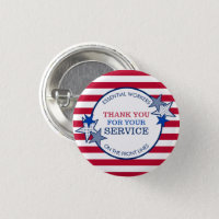 Thank You for Your Service Essential Workers Stars Button