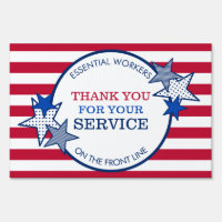 Thank You for Your Service Essential Workers USA Sign