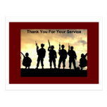thank you for your service post cards