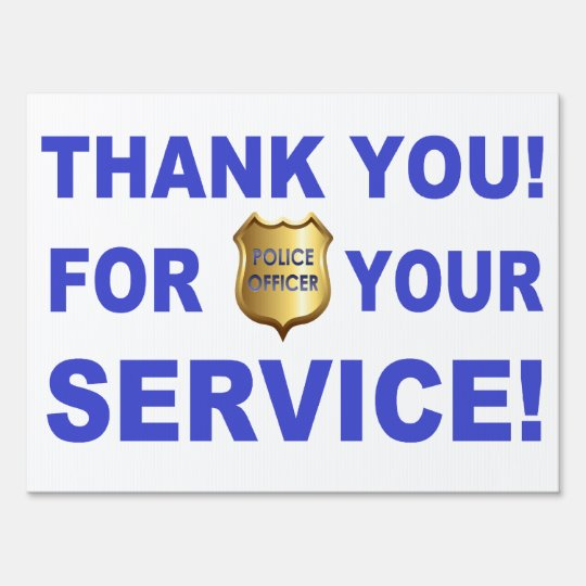 Thank You For Your Service Yard Sign Zazzle Com