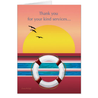 Thank you for Your Services - Cruise Ship Card