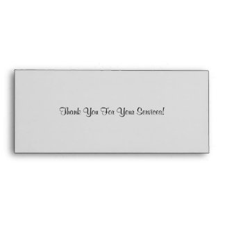 Thank You For Your Services Wedding Envelope