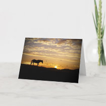 Thank You for your Support and Sympathy Horse Card