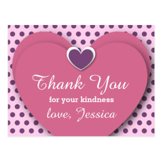 Thank You for YOUR SUPPORT B05 PINK PURPLE Postcard