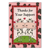 Thank You for Your Support - Cows