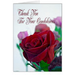 Thank you for your sympathy card, with a red rose card