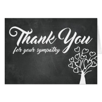 Thank You for Your Sympathy | Chalkboard Tree Card