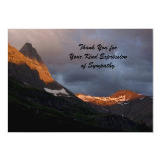 Thank You for Your Sympathy, Glacier Sunrise 5x7 Paper Invitation Card