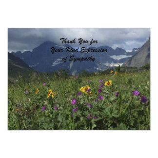 Thank You for Your Sympathy, Mountain Wildflowers 5x7 Paper Invitation Card