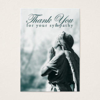 thank you for your sympathy (praying angel) business card