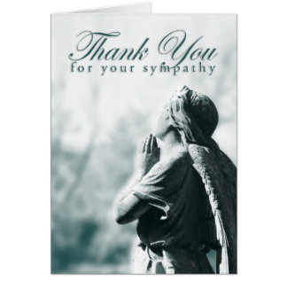 thank you for your sympathy (praying angel) stationery note card